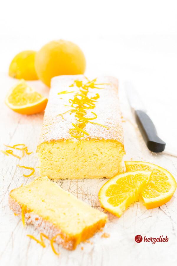 Buttermilchkuchen mit Orangen Kastenkuchen