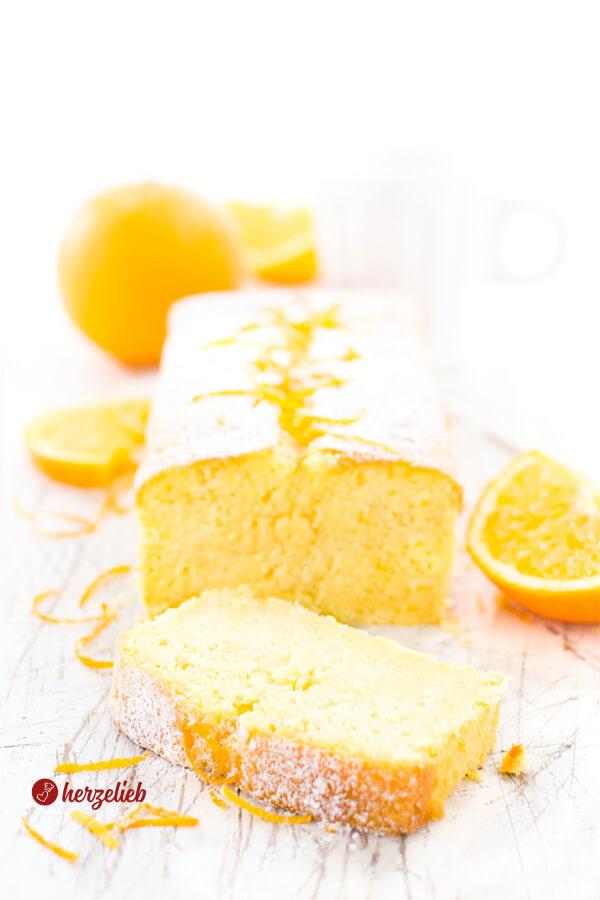 Buttermilchkuchen Rezept – mit toller Orangennote und supersaftig