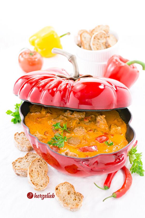 Pfundstopf Rezept – Partysuppe oder Eintopf im Ofen gegart