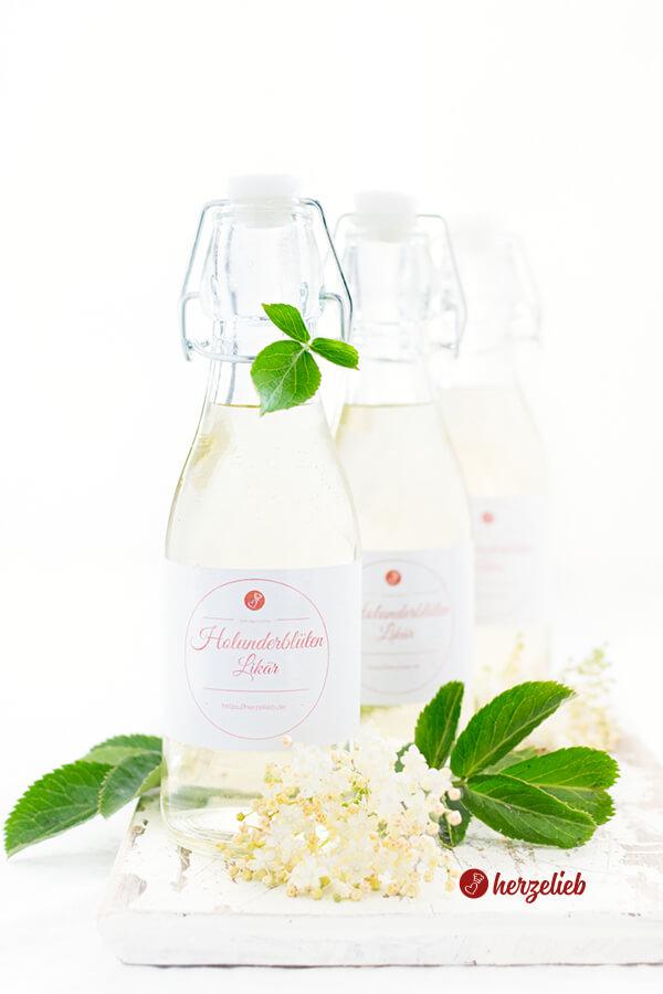 Holunderblütenlikör Rezept – lieblicher Likör zum Verschenken und Selbertrinken!
