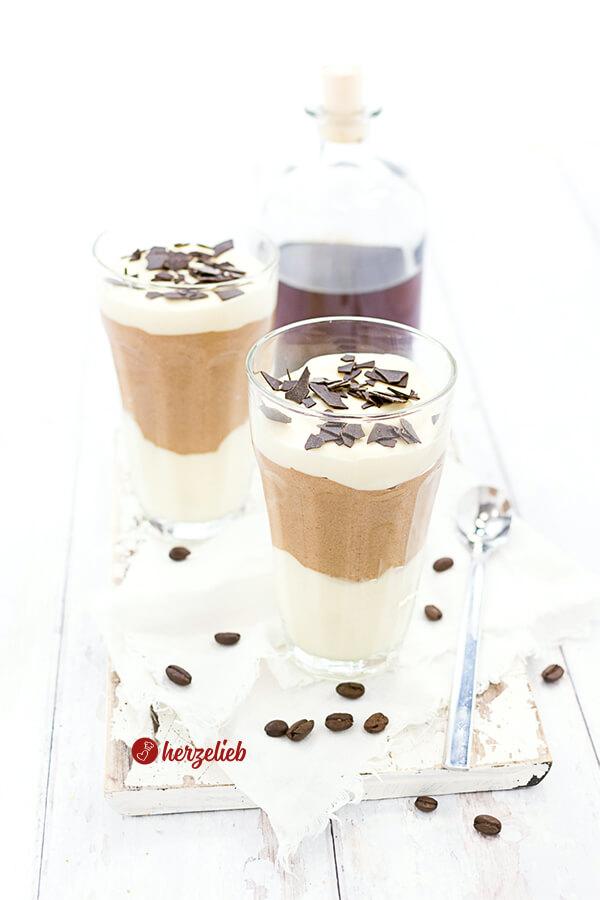 Caramel-Macchiato-Dessert für Nachtisch Fans und Kaffee-Liebhaber! Gut vorzubereiten und auch was fürs Auge. Ein ungewöhnlicher Nachtisch.