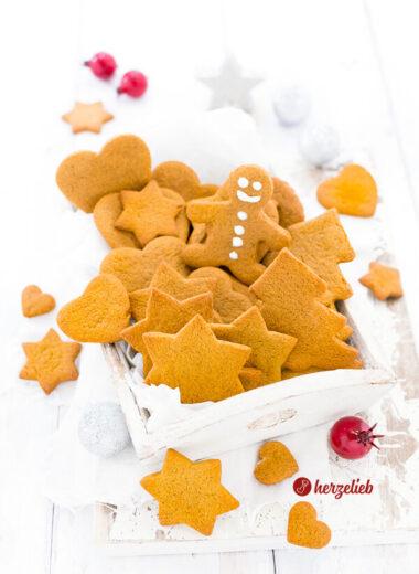 Lebkuchen Kekse oder schwedische Pepparkakor von herzelieb