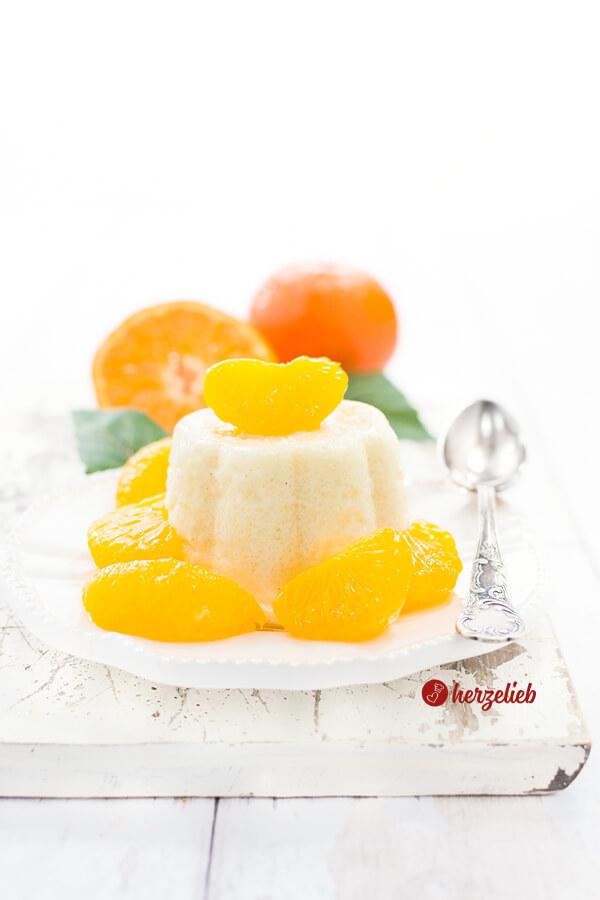 Grießpudding hausgemacht mit Mandarinen von herzelieb