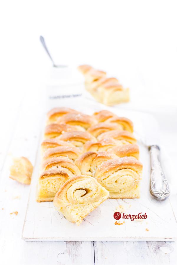 H. C. Andersen Kage Rezept aus Dänemark, ein Butterkuchen