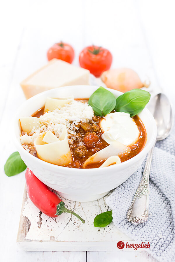 Lasagnesuppe Rezept – Schnelle Soulfood-Suppe