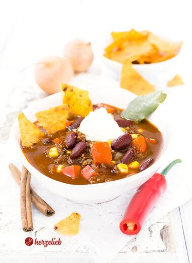 Chili con Carne Suppe von herzelieb