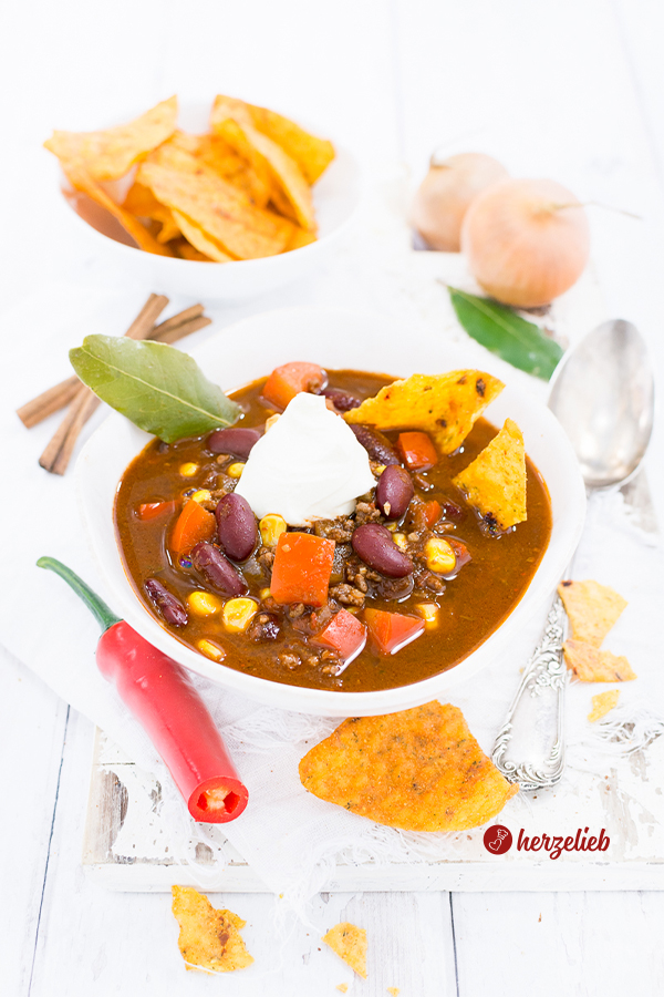 Chili con Carne Suppe bestes Rezept