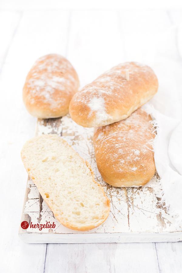 Mini-Sandwichbrote - kleine Brote zum Grillen oder Füllen von herzelieb