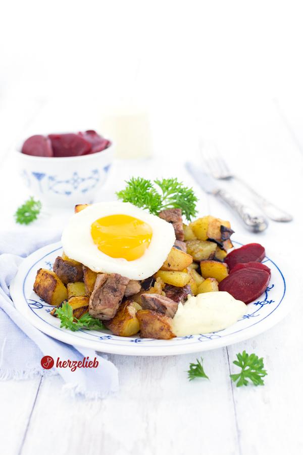 Biksemad Rezept - dänisches Mittagessen