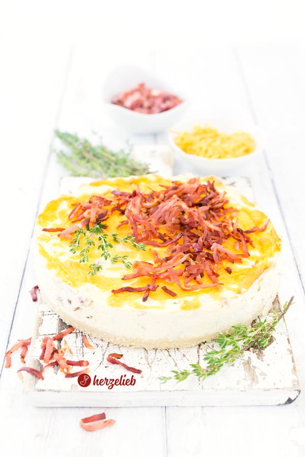Käse-Schinken-Käsekuchen Rezept als Beilage von herzelieb