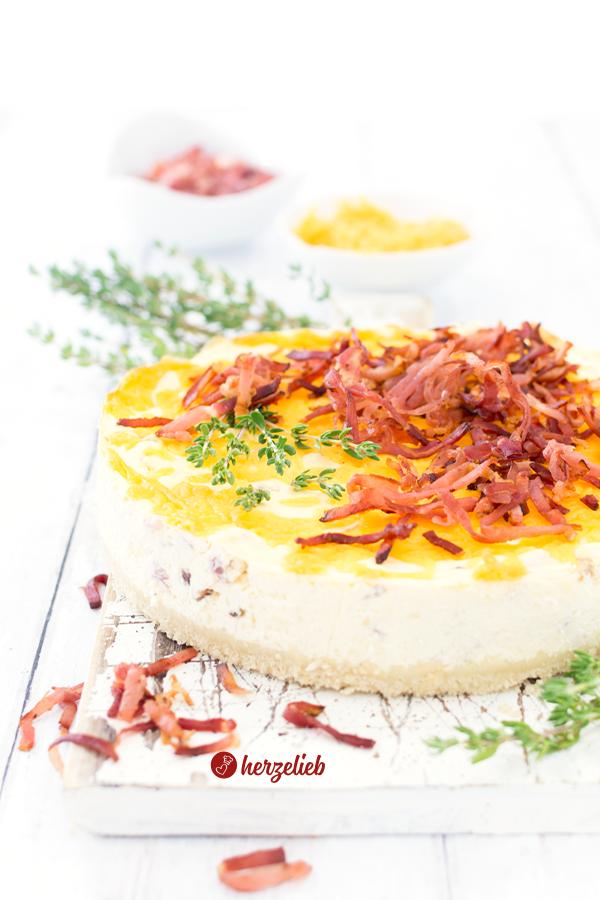 Käse-Schinken-Käsekuchen Rezept von herzelieb.