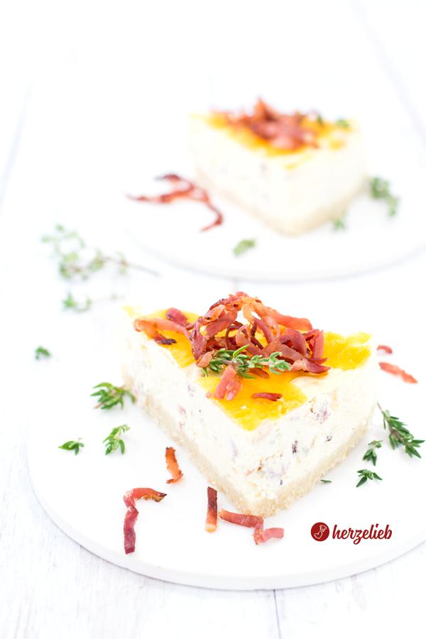 Käse-Schinken-Käsekuchen mit Cheddar Rezept von herzelieb
