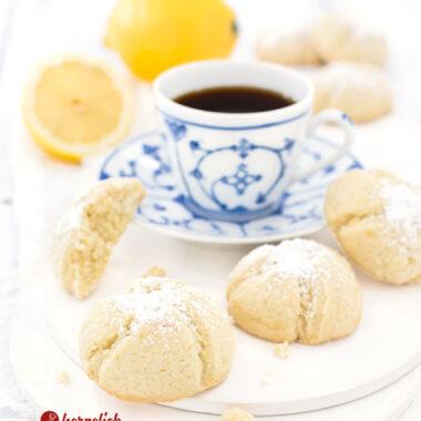 Zitronenkekse Rezept - Zitronenmoppies Plätzchen