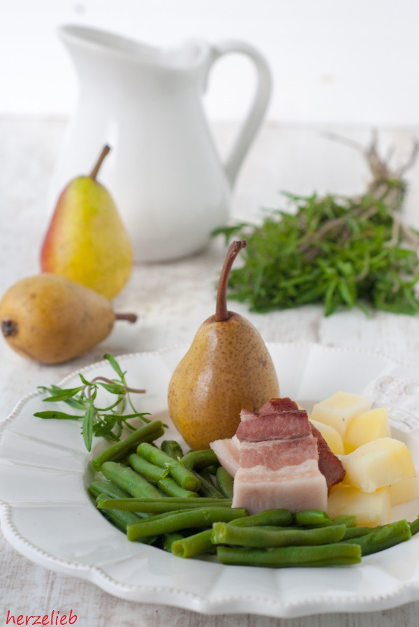 Rezept für Birnen, Bohnen und Speck - ein typisch Norddeutsches