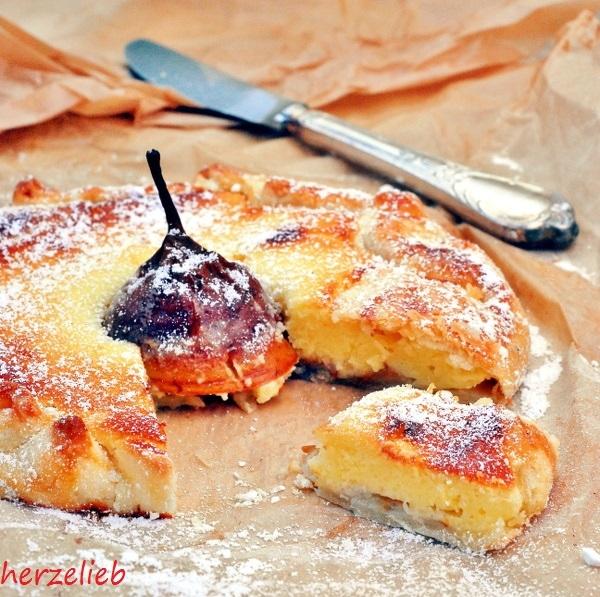 Birnen-Käsekuchen ohne Form gebacken... schnelles Rezept!