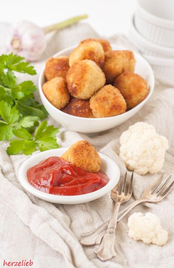 Blumenkohl-Nuggets - Rezept für Fingerfood