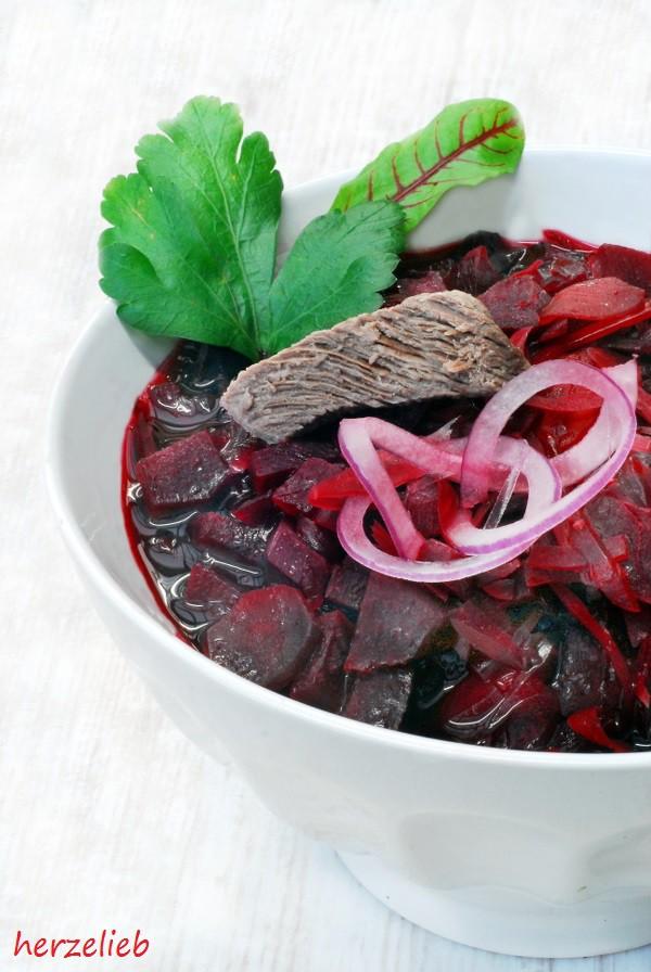 Borschtsch - Rote Bete Suppe. Einfaches Rezept, tolles Gericht für die schlanke Linie!