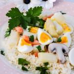 Eierfrikasse mit Spargel. Ein schnelles Rezept