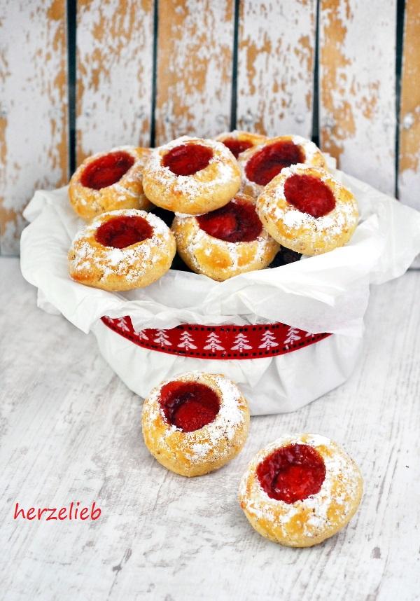 Husarenkrapfen Rezept – Kekse, die auch Husarenkrapferl oder Engelsaugen genannt werden