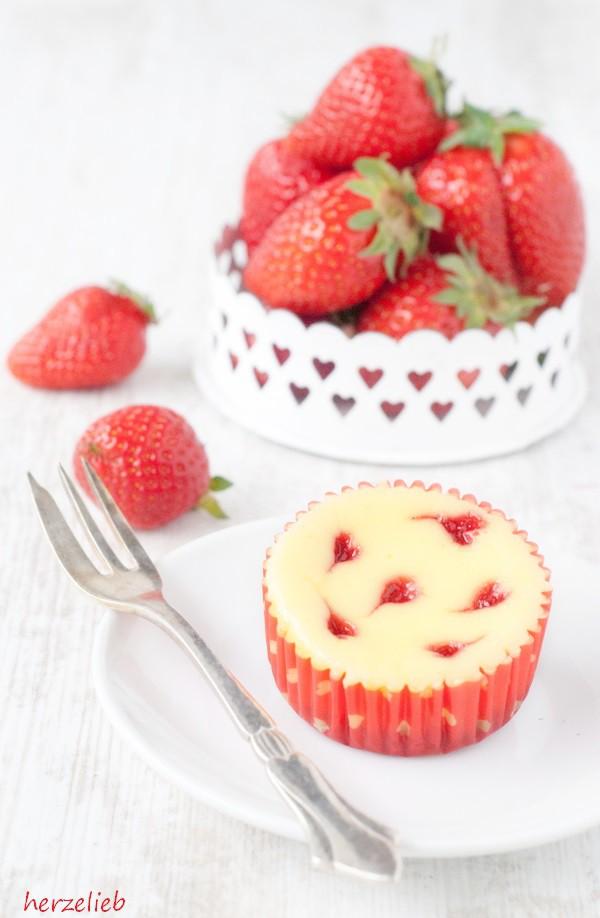 Käsekuchen-Muffins - Rezept Zum Valentinstag Oder Muttertag