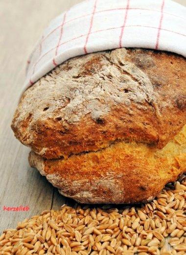 Kartoffelbrot mit Dinkel - ein tolles Rezept! http://herzelieb.de