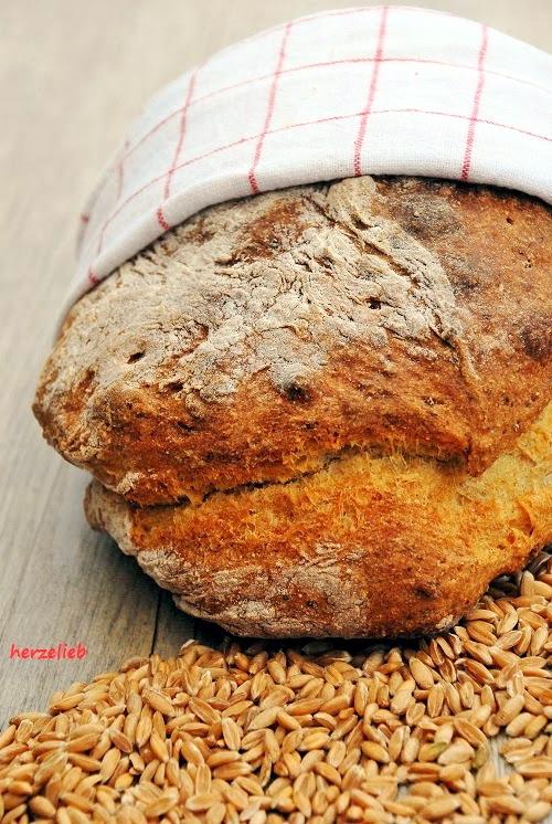 Kartoffelbrot mit Dinkel - ein tolles Rezept! https://herzelieb.de