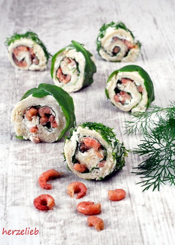 Krabbenbrot-Sushi - eine Idee von herzelieb