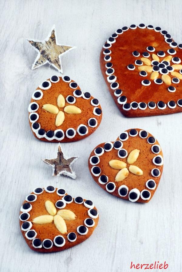 Lebkuchen-Herzen Rezept für Post aus meiner Küche herzelieb