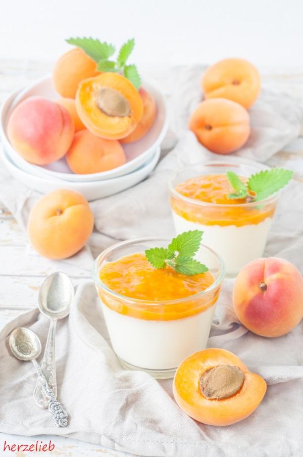 Panna Cotta mit fruchtigem Aprikosenmus