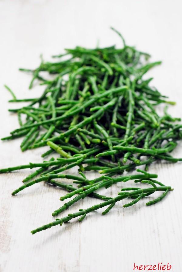 Die zarten Spitzen des Quellers werden für dieses Pesto-Rezept verwendet.