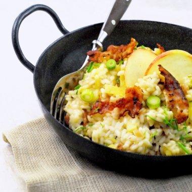 Reispfanne nach Risotto-Art - mit Apfel, Speck und Bier