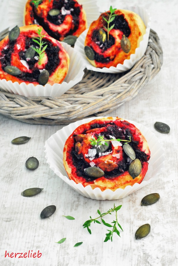 Rote Bete Schnecken sind ideal fürs Buffet oder als Snack. Rezept zum Nachmachen.