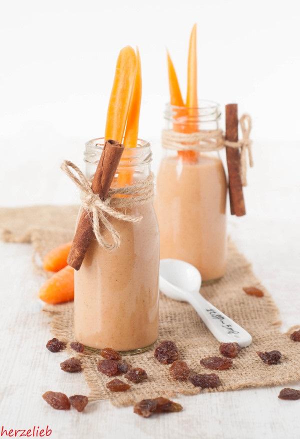 Rezept für Karottenkuchen-Smoothie