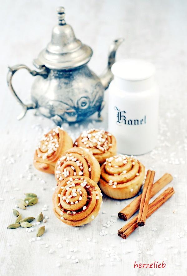 Zimtschnecken Rezept – Kanelbular sind kleine Kuchen aus Schweden