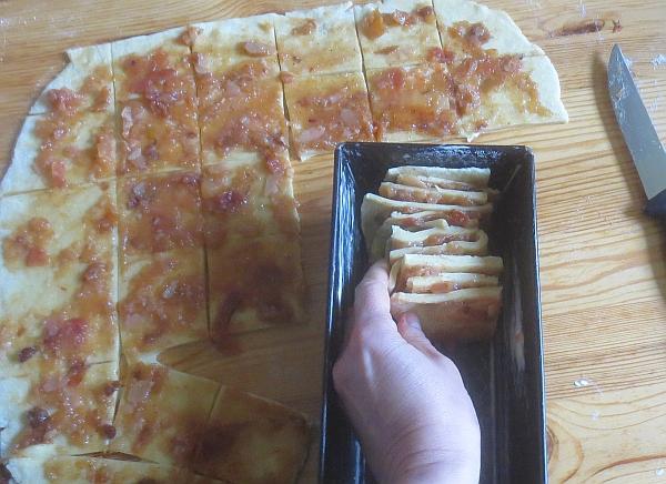 Zubereitung Pull-apart-Brot