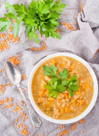 Rote Linsensuppe - ein vegetarisches Rezept